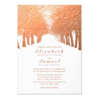 Convite de cobre do casamento da avenida das