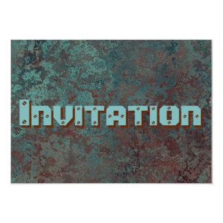 """Convite """"de cobre"""" do impressão da corrosão"""