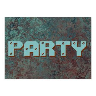 """Convite de cobre do """"partido """""""" do impressão da"""