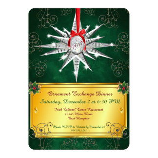 Convite de cristal do comensal de Natal do