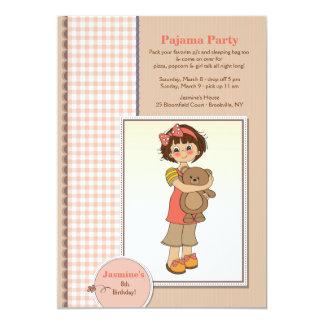 Convite de Cutie do partido de pijama