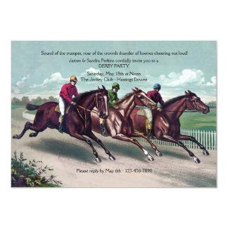Convite de Derby da raça próxima