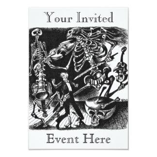 Convite de esqueleto da banda