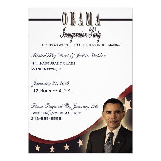 Convite de festas 2013 da inauguração de Obama