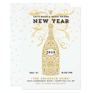 Convite de festas 2018 elegante do ano novo