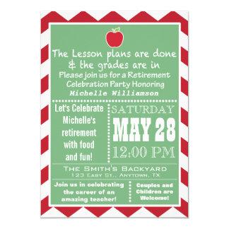 Convite de festas 2 da aposentadoria do professor