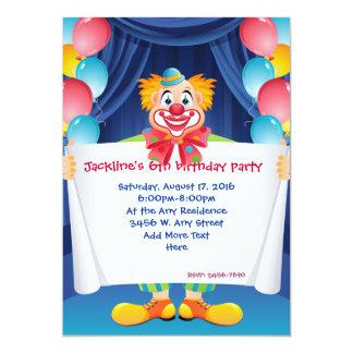 Convite de festas 5x7 do aniversário de criança do