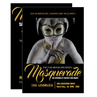 Convite de festas à moda do mascarada