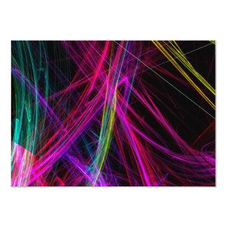 Convite de festas abstrato do néon