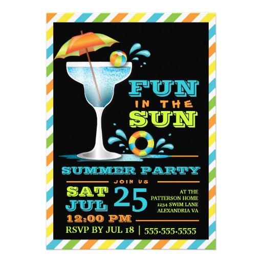 Convite de festas adulto do verão dos cocktail de