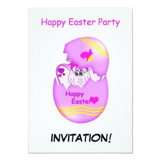 Convite de festas afortunado bonito do felz pascoa