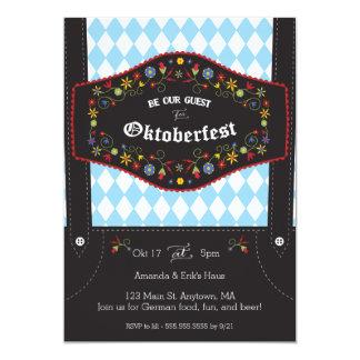 Cartão Convite de festas alemão de Oktoberfest