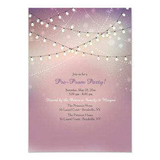 Convite de festas amarrado do Pre-Baile de