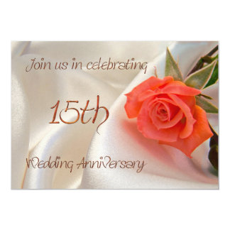 convite de festas anniverary do 15o casamento