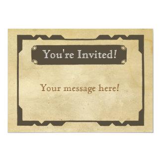 Convite de festas antigo vazio do tema