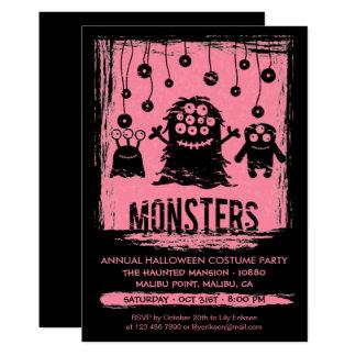 Convite de festas anual do traje do Dia das Bruxas