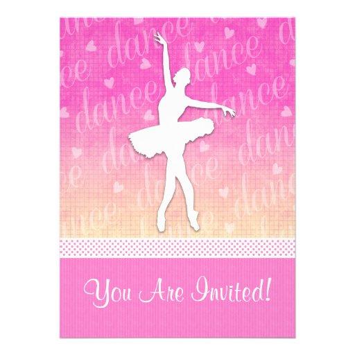 Convite de festas apaixonado do dançarino