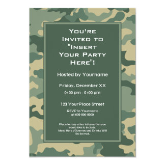 Convite de festas: As forças armadas camuflam
