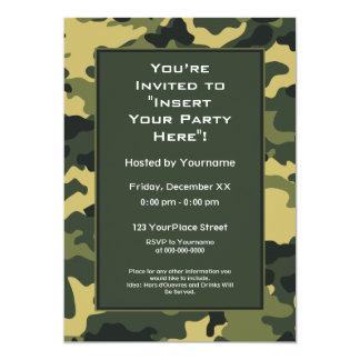 Convite de festas: As forças armadas verdes