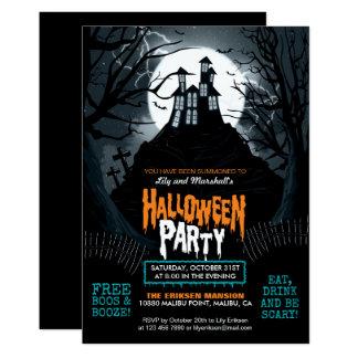 Convite de festas assombrado assustador do Dia das
