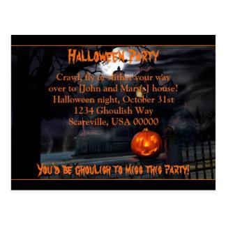 Convite de festas assombrado do Dia das Bruxas