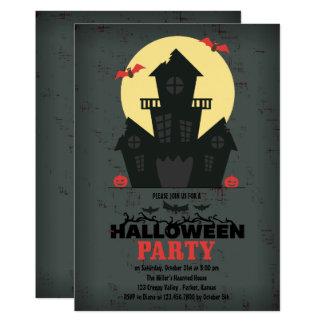 Convite de festas assombrado do Dia das Bruxas da