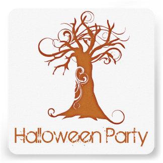 Convite de festas assustador alaranjado 1 da