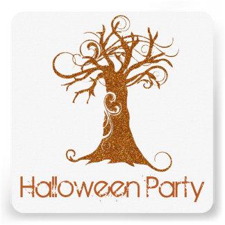Convite de festas assustador alaranjado 2 da