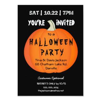 Convite de festas assustador da abóbora do Dia das