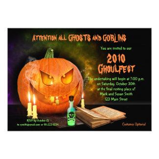 Convite de festas assustador de Jack O'Lantern o D