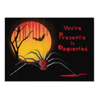 Convite de festas assustador do Dia das Bruxas -