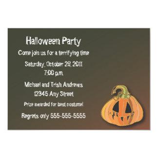 Convite de festas assustador do Dia das Bruxas da Convite 12.7 X 17.78cm