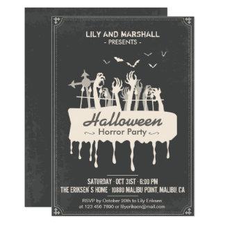 Convite de festas assustador do horror do Dia das