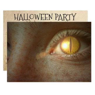Convite de festas assustador do olho do Dia das