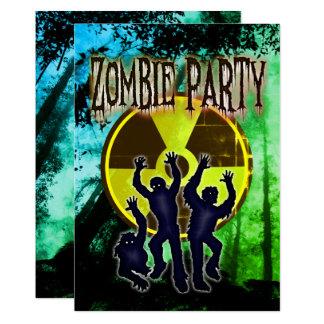 Convite de festas assustador e engraçado do traje