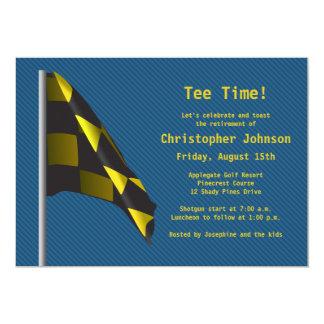 Convite de festas azul da aposentadoria da