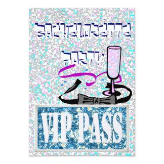 Convite de festas azul de Bachelorette vip