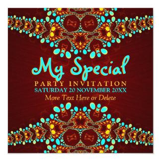 Convite de festas boémio do evento especial da