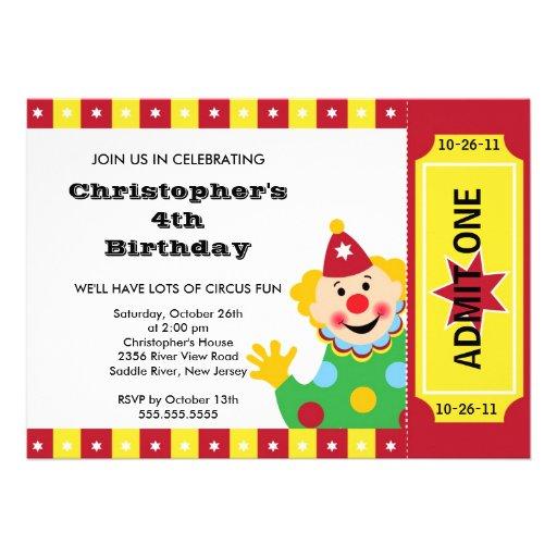 Convite de festas BONITO do aniversário de criança de Zazzle.com.br