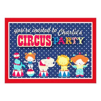 Convite de festas bonito do circo