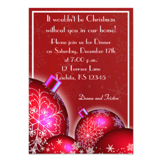 Convite de festas bonito do comensal de Natal