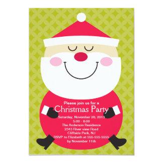Convite de festas bonito do inverno de Papai Noel