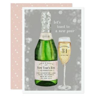 Convite de festas borbulhante da véspera de Ano