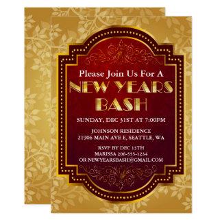 Convite de festas chique da véspera de ano novo