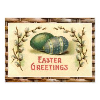 Convite de festas colorido cesta do ovo da páscoa convite 12.7 x 17.78cm