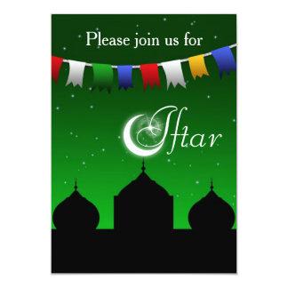 Convite de festas colorido de Iftar da festão e da