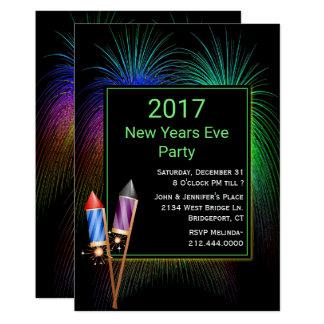 Convite de festas colorido do ano novo dos