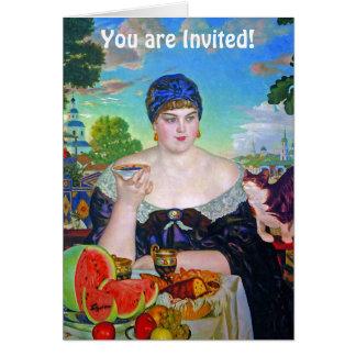 Convite de festas: Comensal, tea party ou o outro