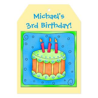 Convite de festas conhecido da arte do bolo de convite 12.7 x 17.78cm