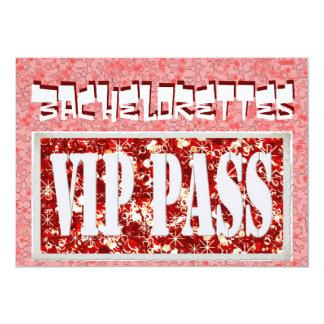 Convite de festas cor-de-rosa de Bachelorette vip